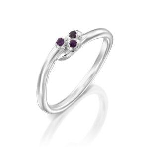 טבעת כסף סיגלית