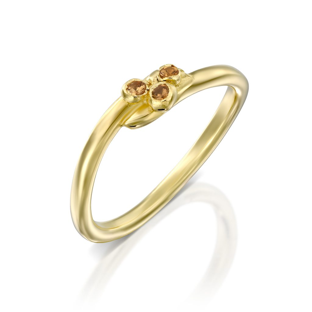 טבעת ספירית בזהב