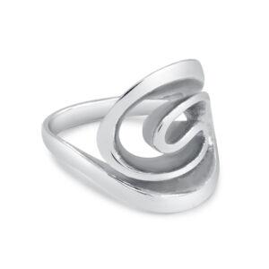 טבעת כסף כמו שבלול