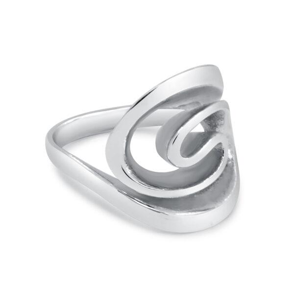 טבעת כסף שבלול