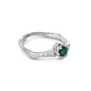 טבעת כסף ירוקה